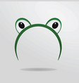 frog eyes mask vector image vector image