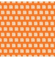 Greek seamless pattern Orange and white colors vector image vector image
