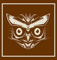 grunge style owl bird heads showing different vector image vector image