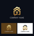 house repair gold logo vector image
