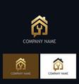 house repair gold logo vector image vector image