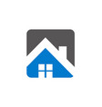 house roof realty logo vector image vector image