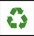 icon green sign of recycling isolated on white vector image vector image