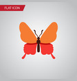 isolated butterfly flat icon danaus plexippus vector image