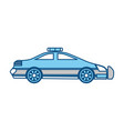 isolated police car vector image vector image