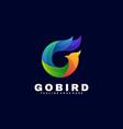logo go bird gradient colorful style vector image vector image