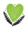 love bio doodle heart symbol vector image vector image