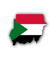 Map and flag of Sudan vector image