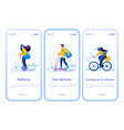mobile app for choosing a delivery method vector image