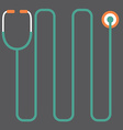 Modern Design Stethoscope vector image vector image