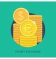 Money exchange vector image vector image