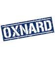 oxnard blue square stamp vector image vector image