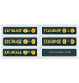 rectangular horizontal buttons exchange vector image