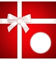 Red Gift background vector image vector image