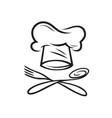 restaurant logo cooking menu symbol vector image