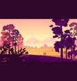 rural landscape natural vector image vector image
