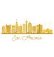 san antonio city skyline golden silhouette vector image vector image