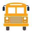 school bus isolated school vector image vector image