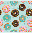 seamless pattern with bright sweet donuts vector image vector image
