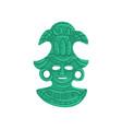 stone tribal mask maya civilization symbol vector image vector image