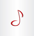 stylized musical note symbol vector image vector image