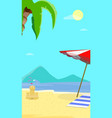 summer beach background with seascape view flyer vector image