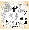 Thanksgiving day and harvest vector image vector image