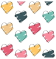 Valentines day background with colorful hearts vector image vector image