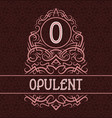 vintage label design template for opulent product vector image