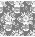 vintage seamless pattern with a bouquet flowers vector image vector image