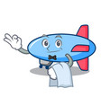 waiter zeppelin mascot cartoon style vector image