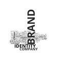 what is brand identity text word cloud concept vector image vector image