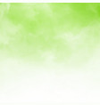 white cloud detail on green natral background vector image vector image