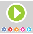 Flat game graphics icon play vector image