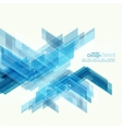 Abstract background with blue stripes corner vector image vector image