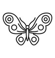abstract butterfly icon outline style vector image vector image
