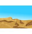 africa desert coast dune vector image