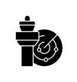 air traffic control black glyph icon