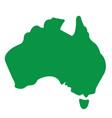 australia map simplified vector image vector image