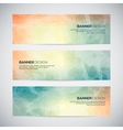 Banners with abstract colorful triangulated lined vector image vector image