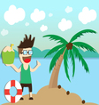 beach summer holidays vector image vector image