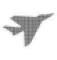 black dot airplane intercepter icon vector image