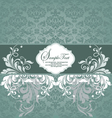 blue wedding card vector image vector image