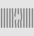 broken escaped jail prison metal bars vector image