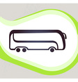 Bus Retro-style emblem icon pictogram EPS 10 vector image vector image