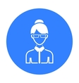 Business woman icon black Single avatarpeaople vector image