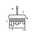 cake icon design vector image vector image