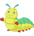 Cartoon funny caterpillar presenting isolated vector image vector image