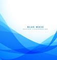 clean blue wave background design vector image vector image