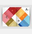 colorful modern stripes business flyer vector image vector image